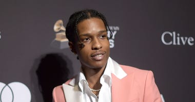 This Feb. 9, 2019 file photo shows A$AP Rocky at Pre-Grammy Gala And Salute To Industry Icons in Beverly Hills, Calif.