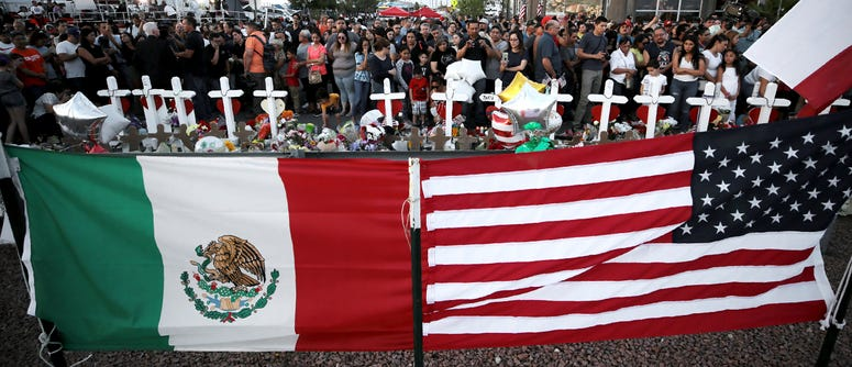 People show up in masses Monday, Aug. 5, 2019, to pay their respects to those who lost their lives in Saturday's attack in El Paso, Texas.