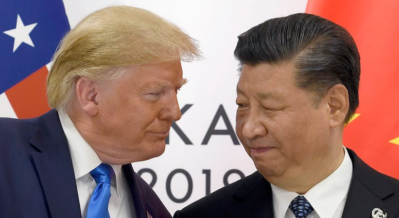 Donald Trump and China's Xi Jinping
