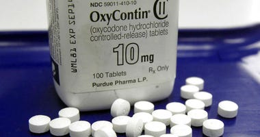 OxyContin pills arranged for a photo at a pharmacy in Montpelier.