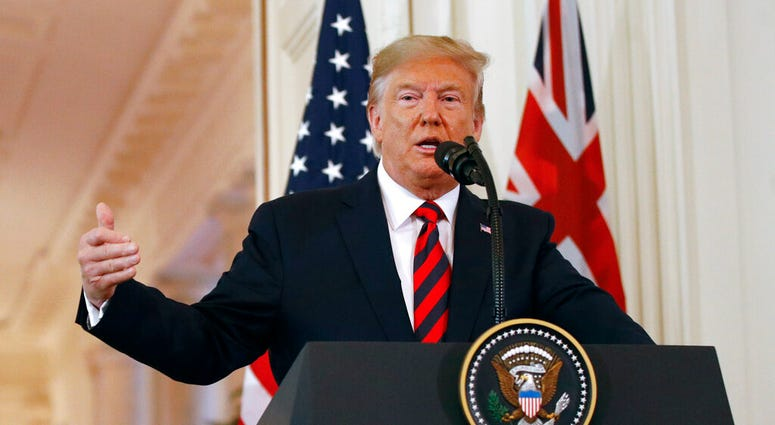 President Donald Trump speaks during a news conference with Australian Prime Minister Scott Morrison in the East Room of the White House, Friday, Sept. 20, 2019, in Washington.