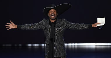 "Billy Porter accepts the award for outstanding lead actor in a drama series for ""Pose"" at the 71st Primetime Emmy Awards on Sunday, Sept. 22, 2019, at the Microsoft Theater in Los Angeles."