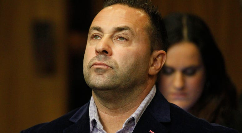"Giuseppe ""Joe"" Giudice, from the television show ""Real Housewives of New Jersey,"" stands during a hearing in the Passaic County Courthouse in Paterson, N.J."