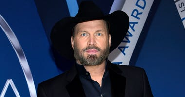 Garth Brooks is shown at the 51st annual CMA Awards in Nashville, Tenn.