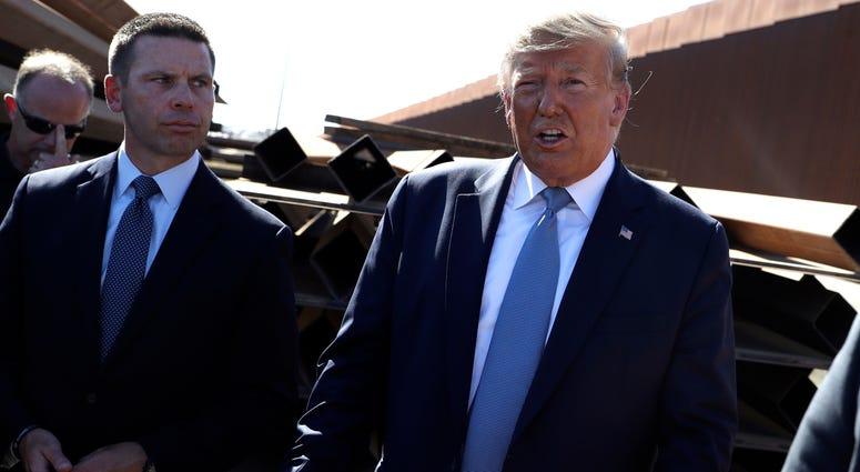 President Donald Trump and acting Homeland Secretary Kevin McAleenan