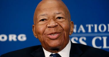 Rep. Elijah Cummings, D-Md., speaks during a luncheon at the National Press Club in Washington.