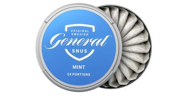 "Swedish Match ""General Snus"" pouched smokeless tobacco product."