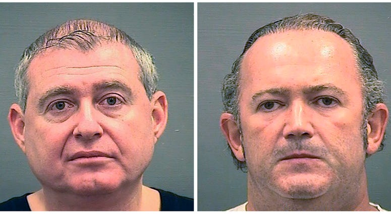 Lev Parnas, left, and Igor Fruman were arraigned Wednesday, Oct. 23, on charges they conspired to make illegal contributions to political committees supporting President Donald Trump and other Republicans.