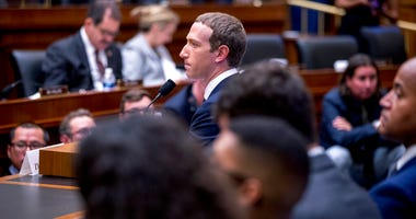 Facebook CEO Mark Zuckerberg testifies before a House Financial Services Committee hearing on Capitol Hill in Washington, Wednesday, Oct. 23, 2019, on Facebook's impact on the financial services and housing sectors.