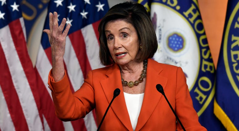 House Speaker Nancy Pelosi of Calif., speaks during a news conference on Capitol Hill in Washington, Thursday, Oct. 31, 2019.
