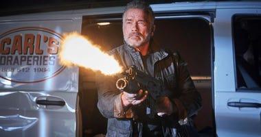 "Arnold Schwarzenegger in ""Terminator: Dark Fate."""