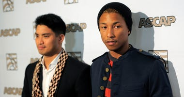 Pharrell Williams, right, alongside his producing partner Chad Hugo at the 25th Annual ASCAP Rhythm & Soul Music Awards in Beverly Hills, Calif.