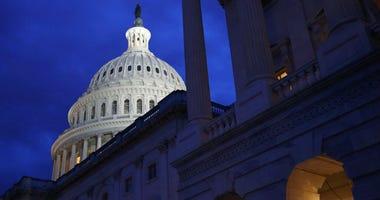 The U.S. Capitol dome in Washington.