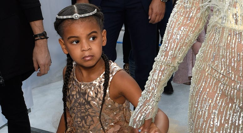 Blue Ivy, daughter of Beyonce, arrives at the MTV Video Music Awards at Madison Square Garden in New York, on Aug. 28, 2016..