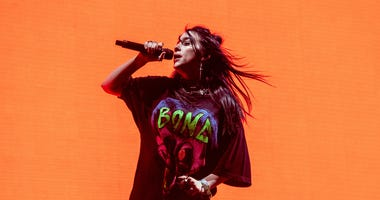 Billie Eilish performs at the Coachella Music & Arts Festival in Indio, Calif.
