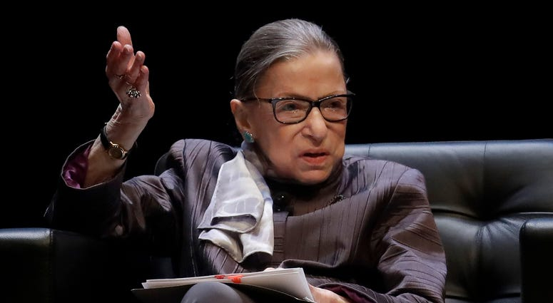 File photo of U.S. Supreme Court Justice Ruth Bader Ginsburg