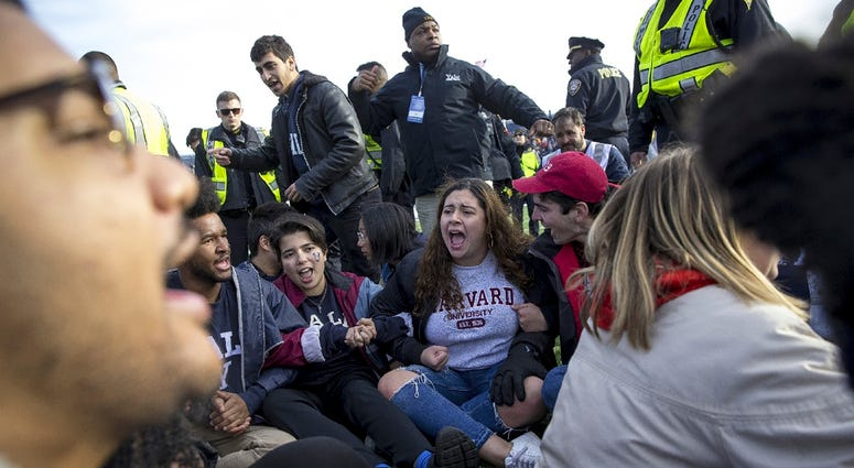 Harvard-Yale game protest