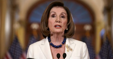 Speaker of the House Nancy Pelosi, D-Calif., makes a statement at the Capitol in Washington, Thursday, Dec. 5, 2019.