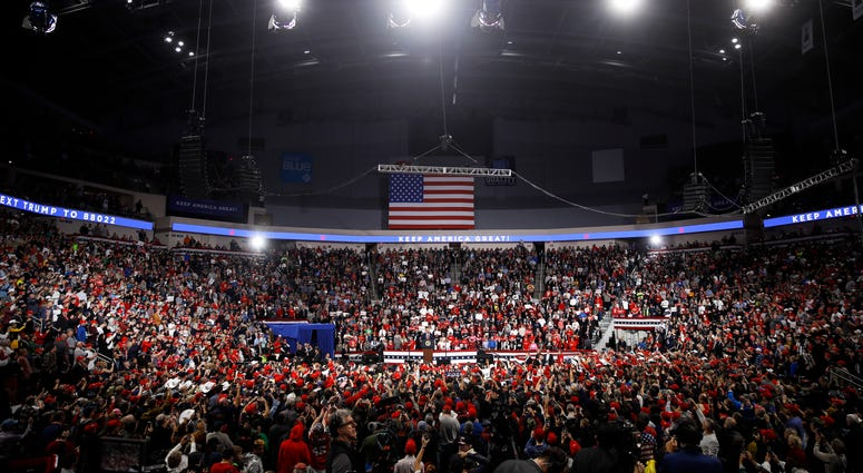 President Donald Trump speaks during a campaign rally in Hershey, Pa., Tuesday, Dec. 10, 2019.