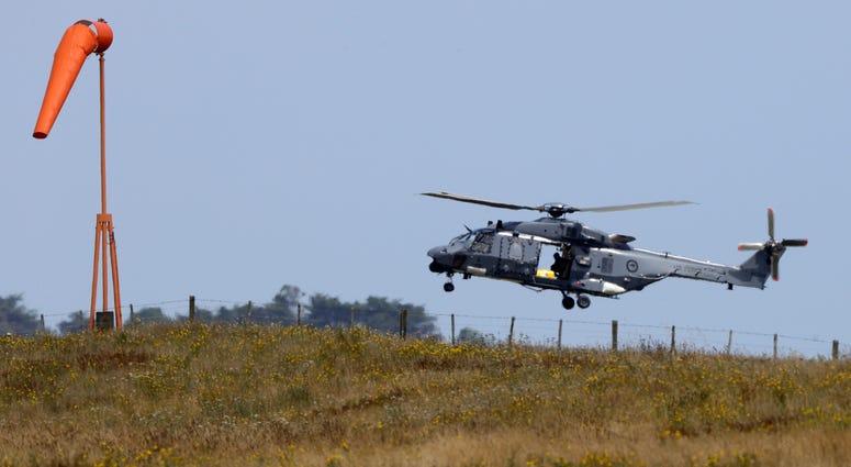 Navy helicopter returns to Whakatane Airport