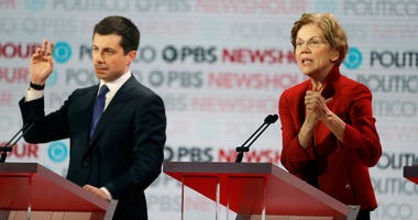 Elizabeth Warren and Pete Buttigieg