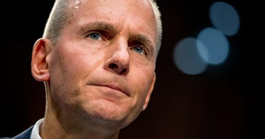 Boeing Company President and Chief Executive Officer Dennis Muilenburg appears before a Senate Committee on Commerce, Science, and Transportation hearing on 'Aviation Safety and the Future of Boeing's 737 MAX' on Capitol Hill in Washington.