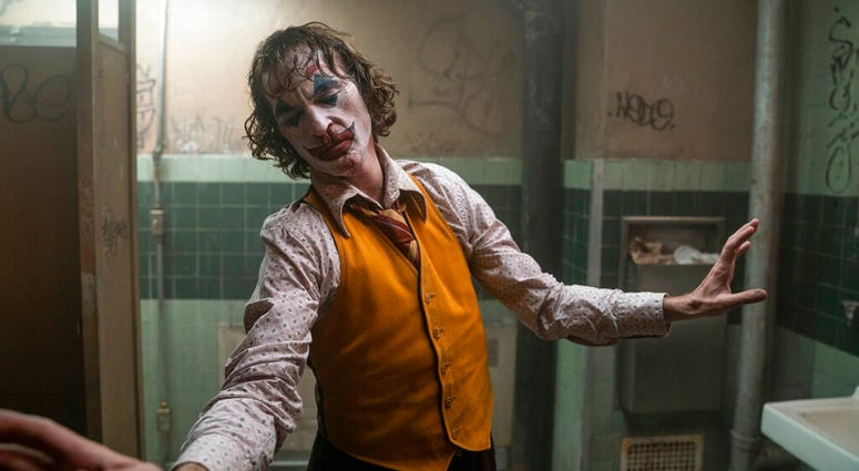 """This image released by Warner Bros. Pictures shows Joaquin Phoenix in a scene from """"Joker."""""""