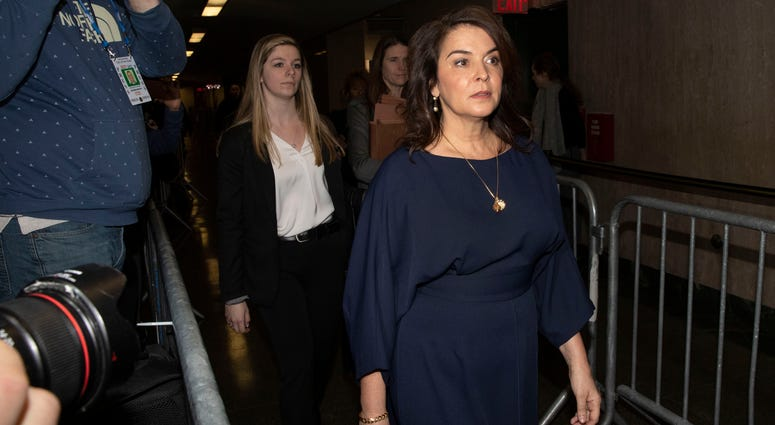 Actress Annabella Sciorra arrives as a witness in Harvey Weinstein's rape trial.