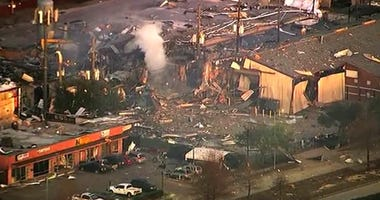A large explosion in Houston, Texas, left rubble scattered in the area, damaged nearby homes and was felt for miles away.
