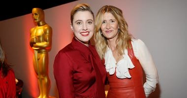 Greta Gerwig, left, and Laura Dern attend the 92nd Academy Awards Nominees Luncheon at the Loews Hotel on Monday, Jan. 27, 2020, in Los Angeles.