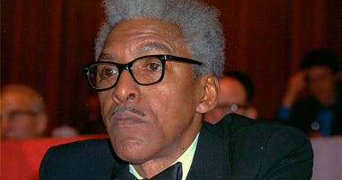 Civil rights leader Bayard Rustin at the New York Hilton in 1970