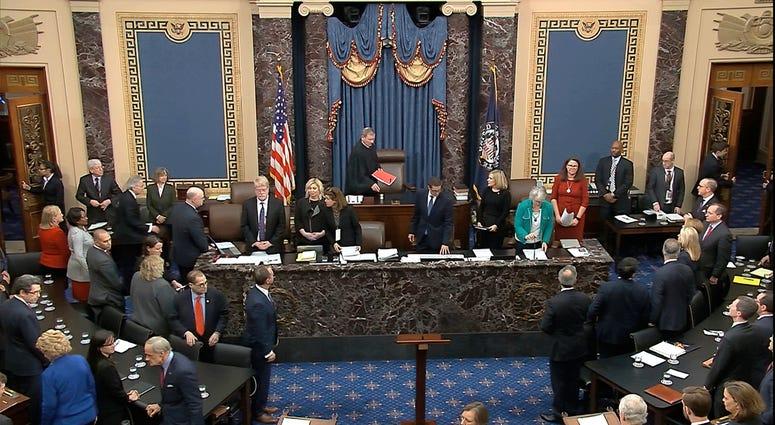 Senate vote in the impeachment trial against President Donald Trump