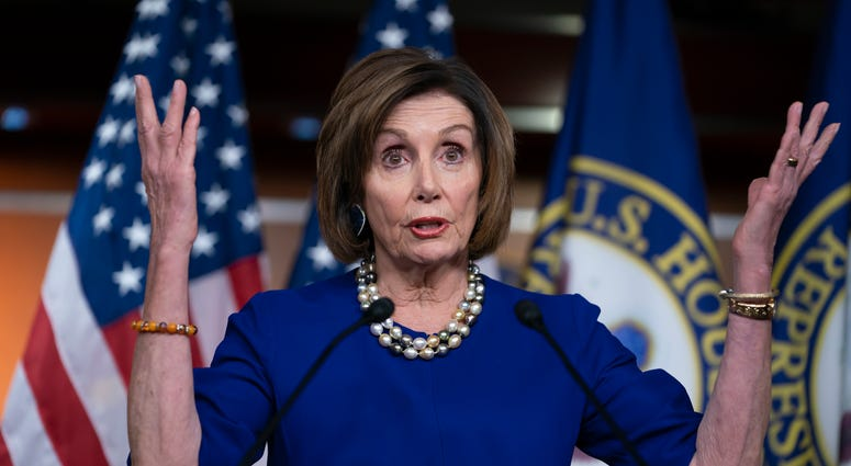 Speaker of the House Nancy Pelosi, D-Calif., holds a news conference the morning after the impeachment of President Donald Trump ended in acquittal, at the Capitol in Washington, Thursday, Feb. 6, 2020.
