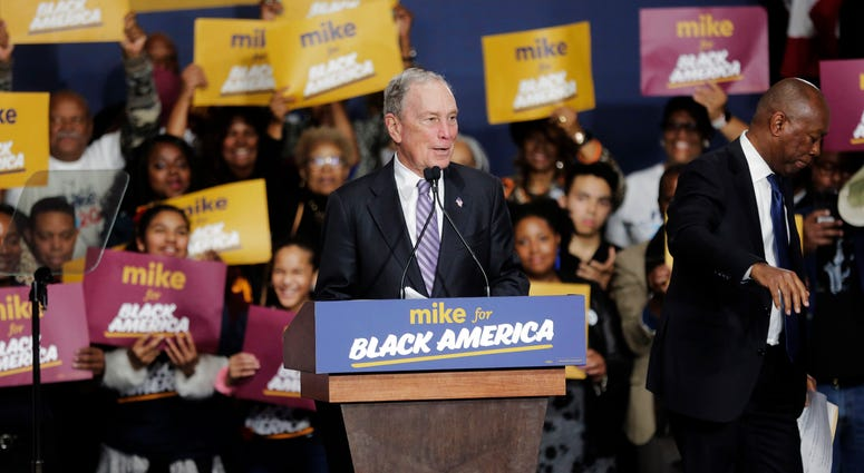 Democratic presidential candidate and former New York City Mayor Michael Bloomberg speaks during a campaign rally at the Buffalo Soldier Museum in Houston, Thursday, Feb. 13, 2020.