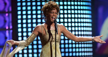 Whitney Houston performs on Sept. 15, 2014, at the World Music Awards at the Thomas and Mack Arena in Las Vegas.