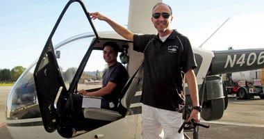 Helicopter pilot Ara Zobayan