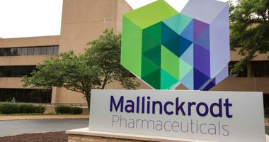 The exterior of the Mallinckrodt Pharmaceuticals office in St. Louis, July 1, 2013