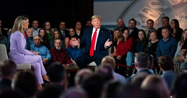 President Donald Trump speaks during a FOX News Channel town hall at the Scranton Cultural Center, Thursday, March 5, 2020, in Scranton, Pa.