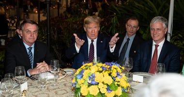 President Donald Trump and Brazilian President Jair Bolsonaro