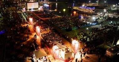 This April 20, 2011 file photo shows a view of the outdoor screening area at the Tribeca Film Festival in New York.