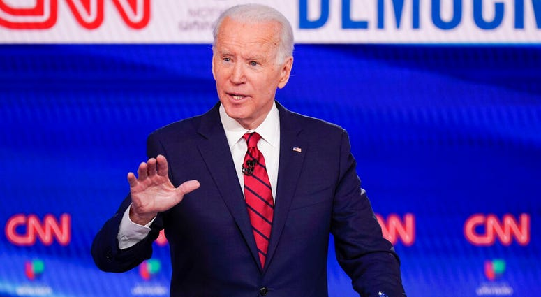 Former Vice President Joe Biden, participates in a Democratic presidential primary debate at CNN Studios.