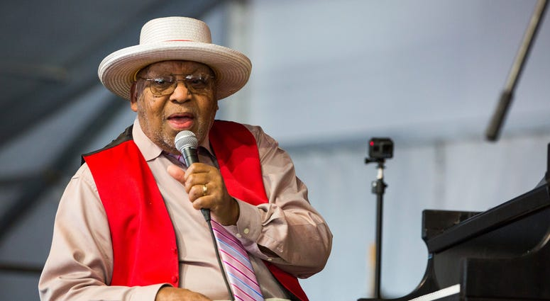 Ellis Marsalis during the 2019 New Orleans Jazz & Heritage Festival in New Orleans