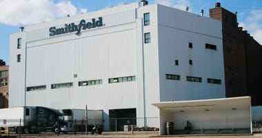 Smithfield pork processing plant in Sioux Falls