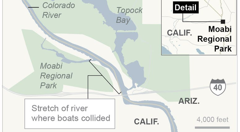 Colorado River boat collision