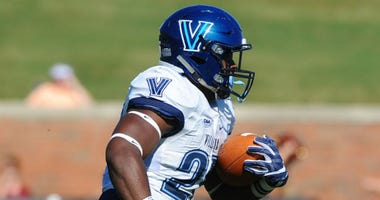 Senior running back Aaron Forbes leads Villanova with 613 yards rushing this season