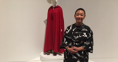 "Costume designer Ane Crabtree, whose iconic ""The Handmaid's Tale"" costume is on display at the Philadelphia Museum of Art."