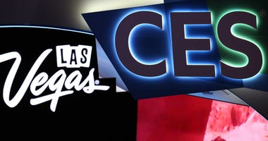 The 2019 Consumer Electronics Show (CES) and the Las Vegas signs are displayed on Sunday, Jan. 6, 2019, prior to the opening day of CES at the Las Vegas Convention Center in Las Vegas, Nevada.