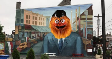 A contingent of Philadelphians want to replace the Frank Rizzo mural in South Philly with an image of Gritty, the fiery new Philadelphia Flyers mascot.