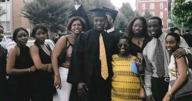 Chinedu Okobi and his family