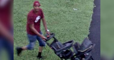Philadelphia police are asking for the public's help in identifying a man captured on security video using a baby stroller to help him steal flat-screen TVs from the Mann Center in West Philadelphia.